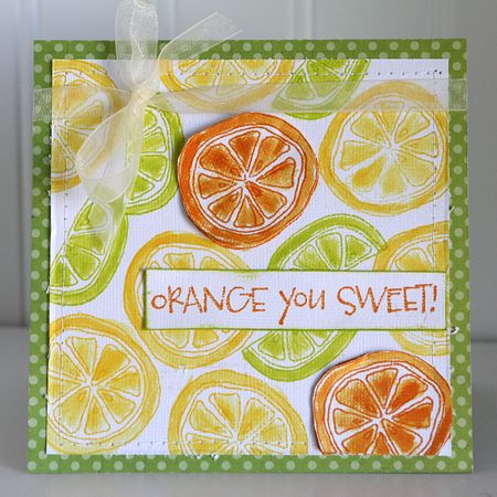 PO Ronda Palazzari Orange you Sweet card