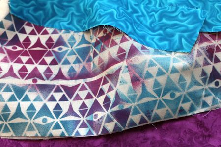 Ronda Palazzari Triangle plaid fabric