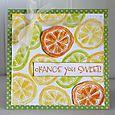 Orange you Sweet card