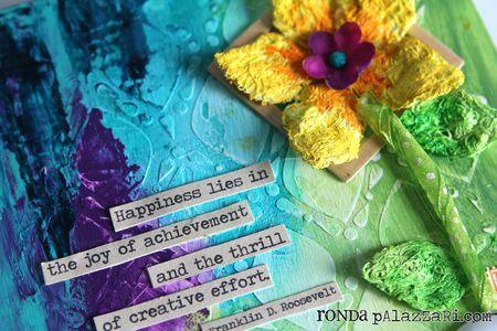 Ronda Palazzari Happiness Canvas detail