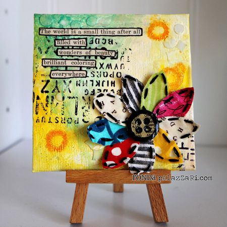 Ronda Palazzari Beauty Everywhere mini canvas