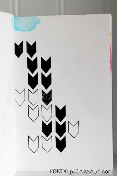 Ronda palazzari stamped journal