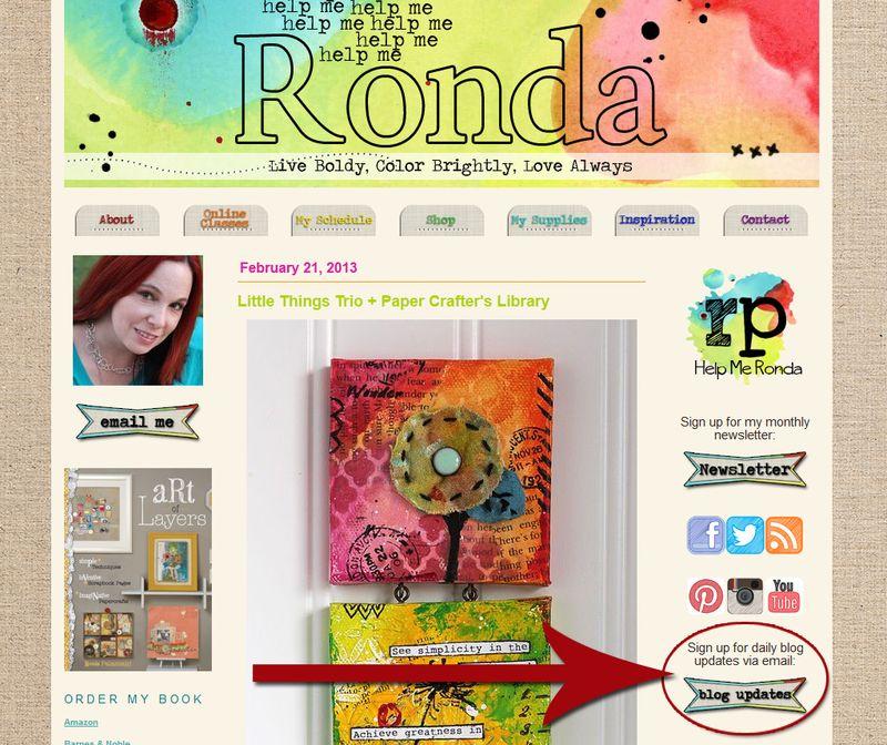 Ronda Palazzari Blog Emails