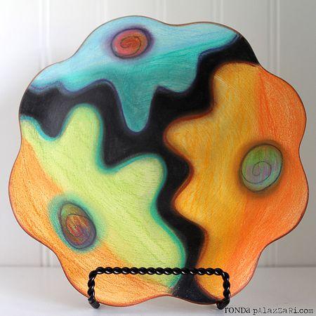 Ronda Palazzari Crayon Ceramic Plate