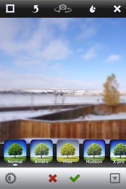 Instagram spot blur photo