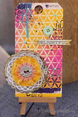 Ronda Palazzari Delightful Kaleidoscope Tag