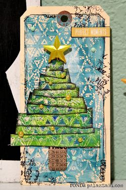 Ronda Palazzari O Christmast Tree Kaleidoscope Tag