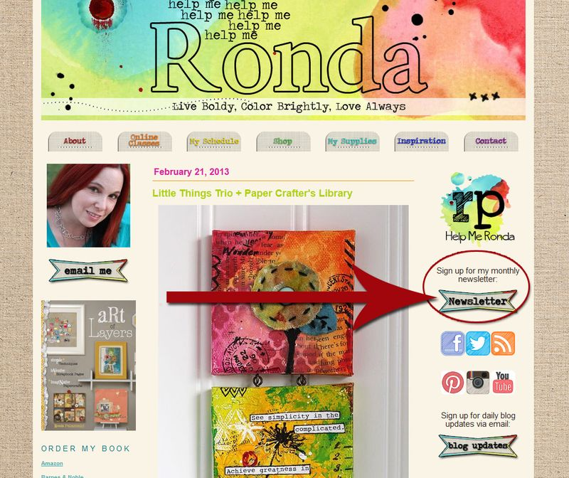 Ronda Palazzari Blog Newsletter