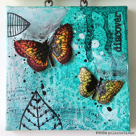 Ronda Palazzari Little Things Canvas 3 Butterflies
