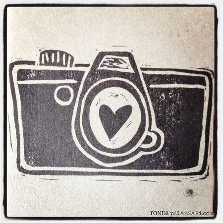 Ronda Palazzari Carved Camera Stamps