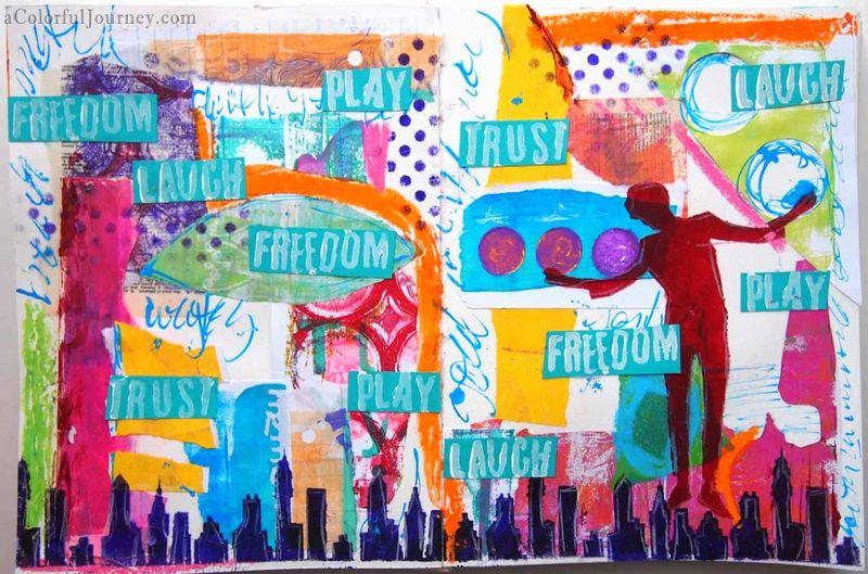 CarolynDube Freedome Art Journal