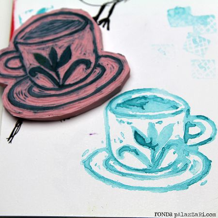 Ronda Palazzari Carved Cup Stamps