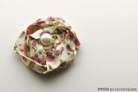 Ronda Palazzari Fabric Tape Cabbage Rose