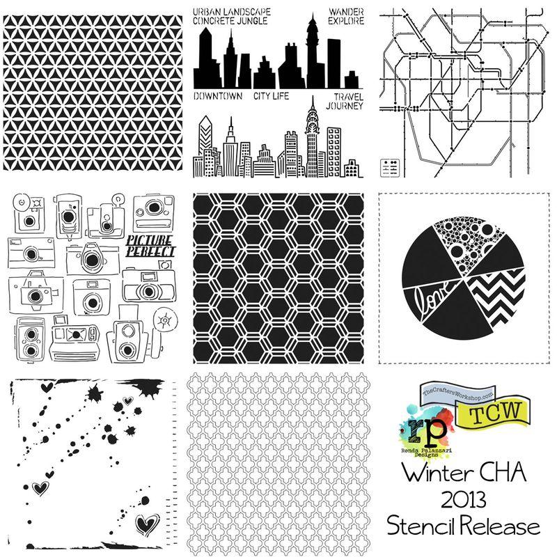 Ronda Palazzari Designs TCW Stencil Release 2013
