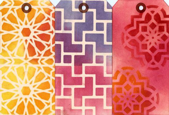 Ronda Palazzari Moroccan Tiles 12x12 stencil row 1