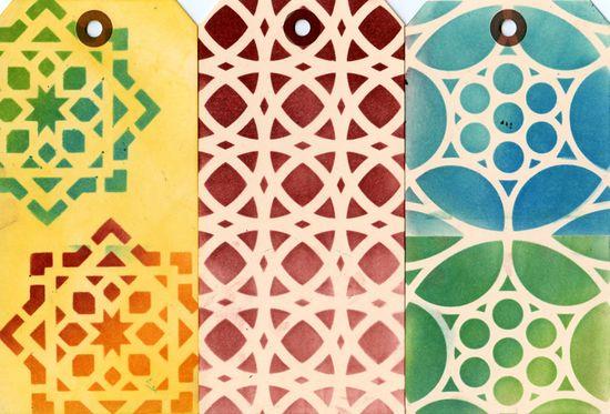 Ronda Palazzari Moroccan Tiles 12x12 stencil row 2