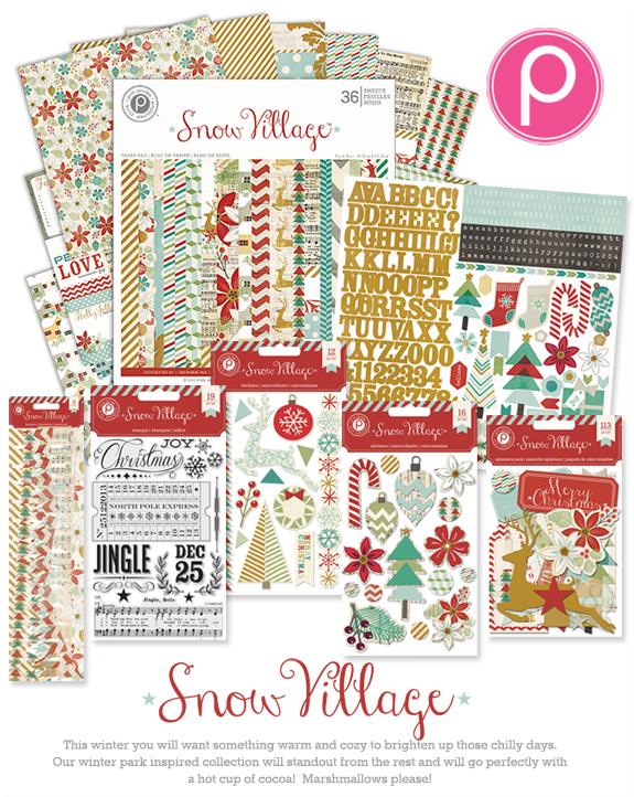 Pink Paislee CHAS13_snowvillage