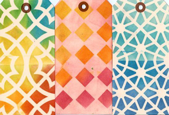 Ronda Palazzari Moroccan Tiles 12x12 stencil row 3