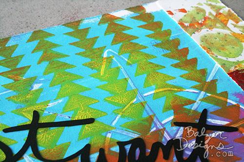 Julie Balzer Stacked Triangles Stencil