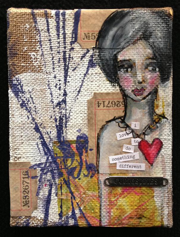 Dina Wakely Burlap Canvas