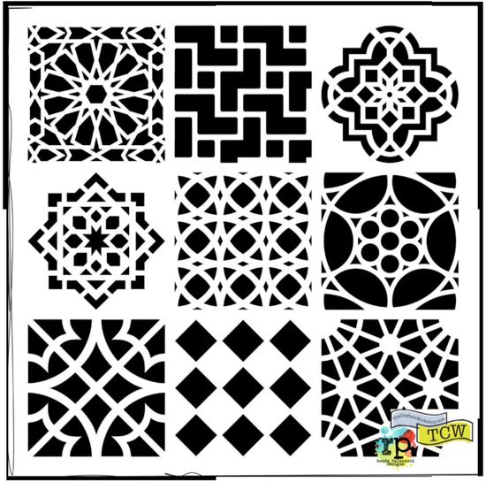 Ronda Palazzari Moroccan Tiles TCW385