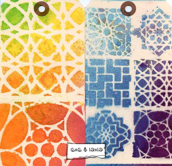 Ronda Palazzari Moroccan Tiles stencil