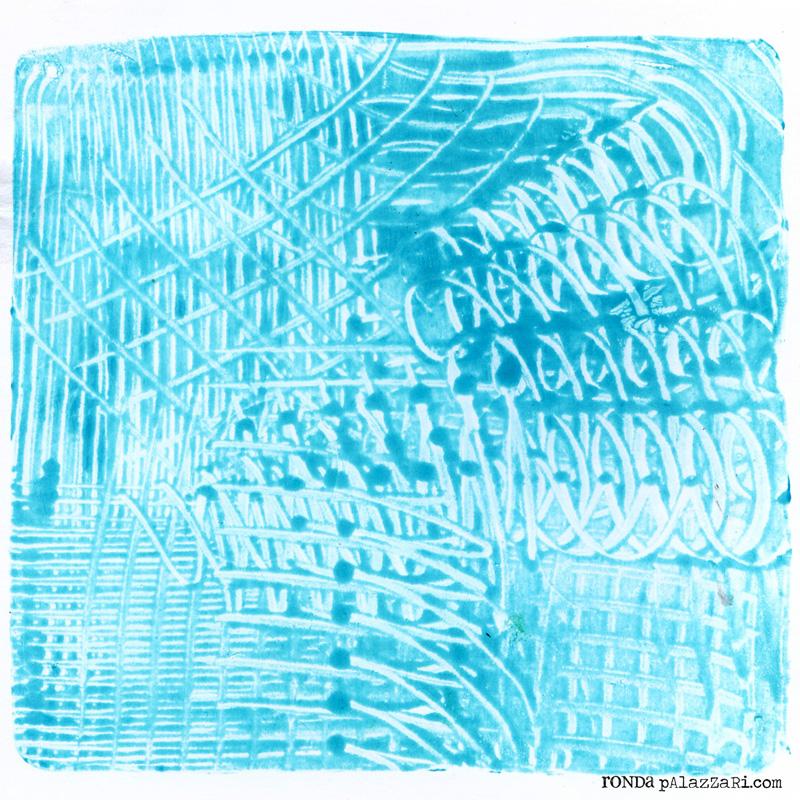 Ronda Palazzari Collective 5 Catalysts gelli print
