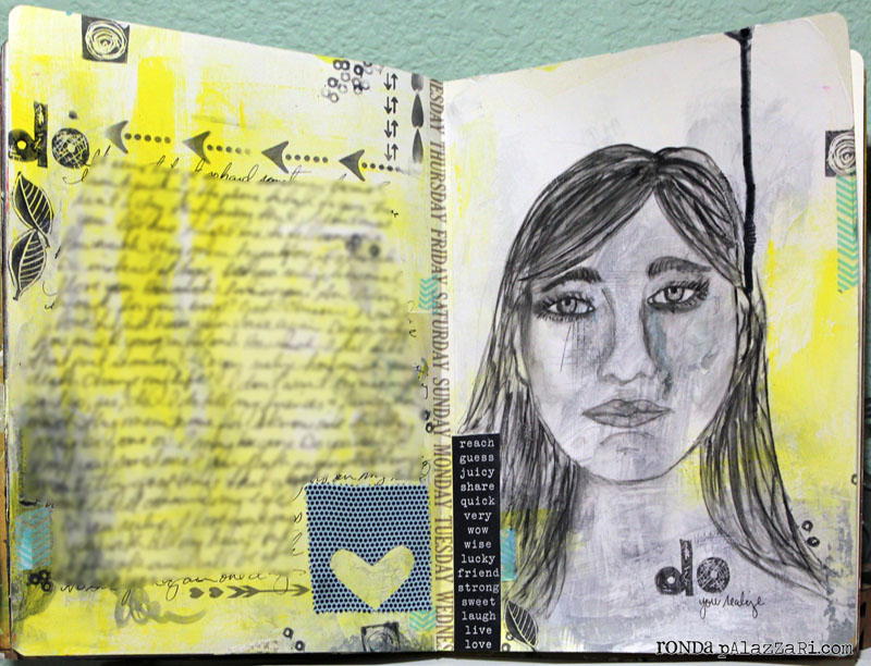 Ronda Palazzari Do Art Journal Two pages
