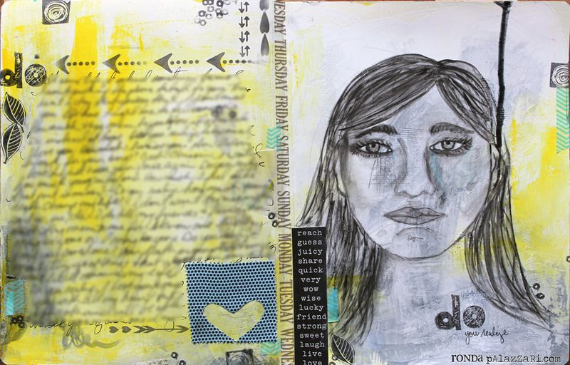 Ronda Palazzari Do Art Journal 2 pages