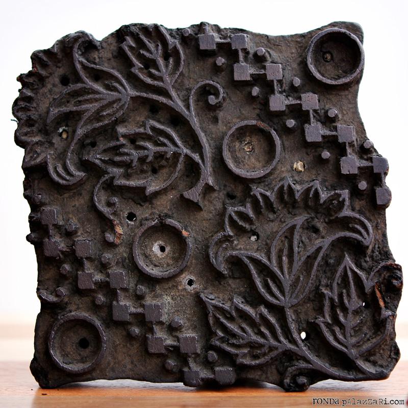 Ronda Palazzari Wooden Floral Stamp