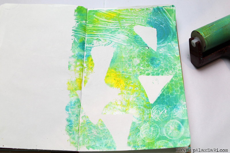 Ronda palazzari If i could gelli print 2