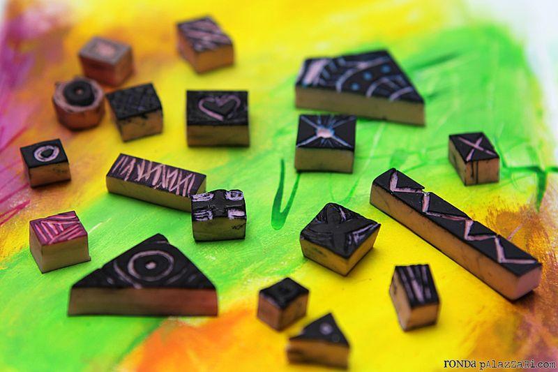 Ronda Palazzari Tiny Carved Stamps 1