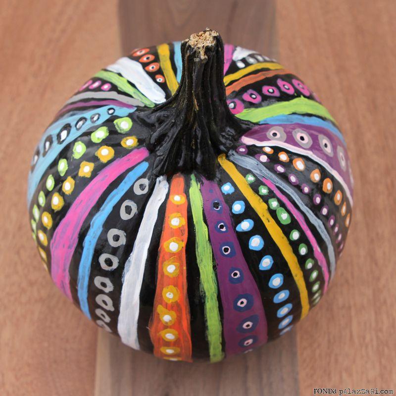 help me ronda 3 painted pumpkins