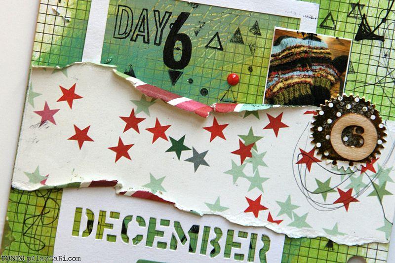 Ronda Palazzari Document Dec Art Journal Day 6 details