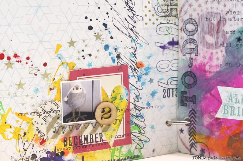 Ronda Palazzari Document Dec Art Journal Day 2 details