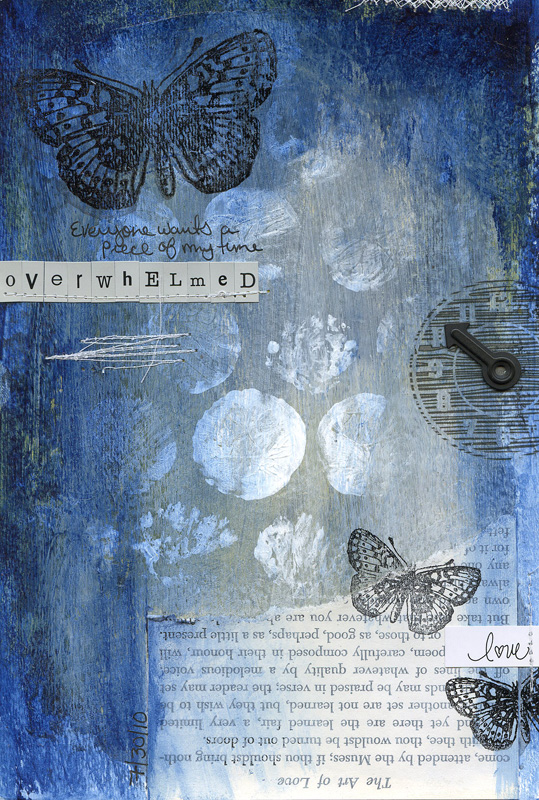 Ronda Palazzari Overwhelmed Art Journal
