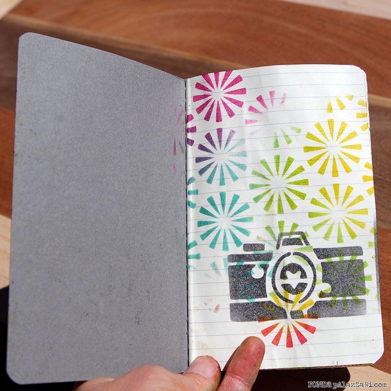 Ronda Palazzari Artsy Travel Mini Album pages 1