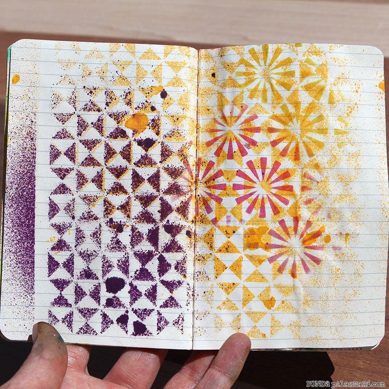 Ronda Palazzari Artsy Travel Mini Album pages 4&5