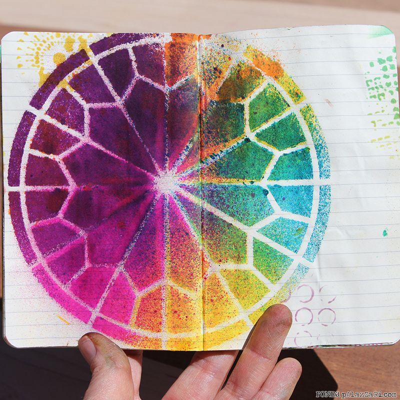 Ronda Palazzari Artsy Travel Mini Album pages 6&7