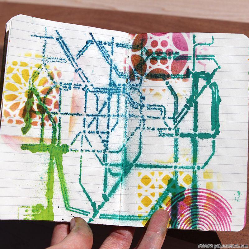 Ronda Palazzari Artsy Travel Mini Album pages 8&9