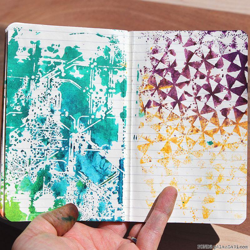 Ronda Palazzari Artsy Travel Mini Album pages 12&13
