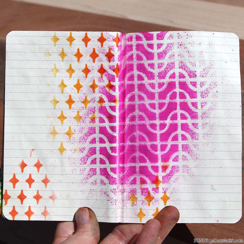 Ronda Palazzari Artsy Travel Mini Album pages 16&17