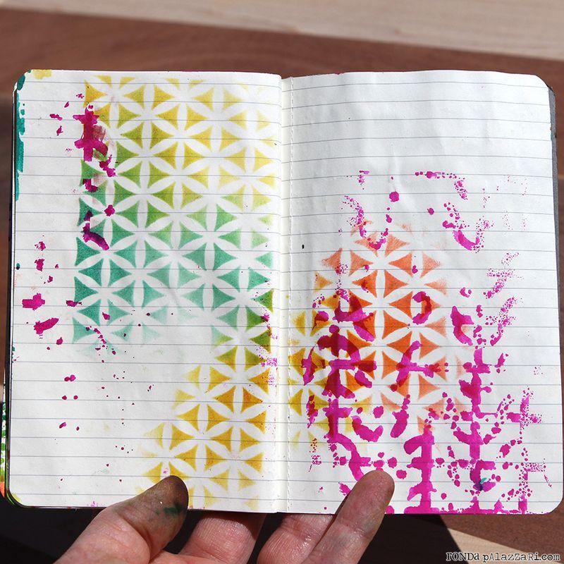 Ronda Palazzari Artsy Travel Mini Album pages 18&19