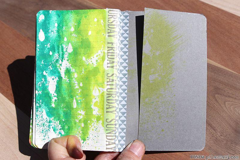 Ronda Palazzari Artsy Travel Mini Album pages 20 washi tape