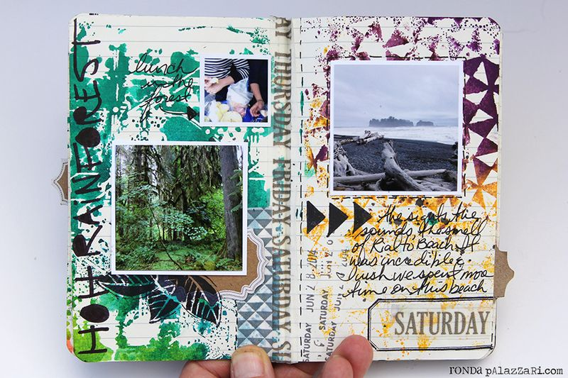 Ronda Palazzari Artsy Mini Album pg 12 - 13
