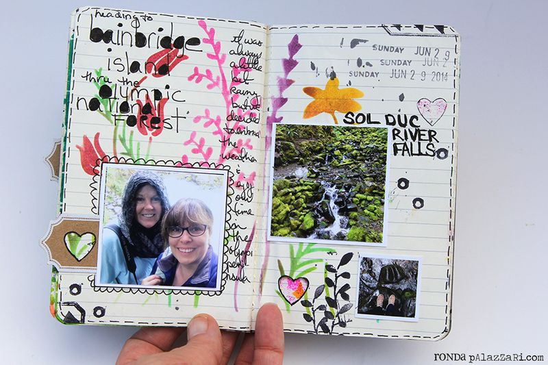 Ronda Palazzari Artsy Mini Album pg 14 - 15