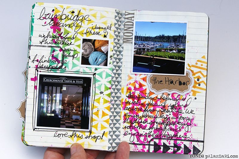 Ronda Palazzari Artsy Mini Album pg 16 - 17