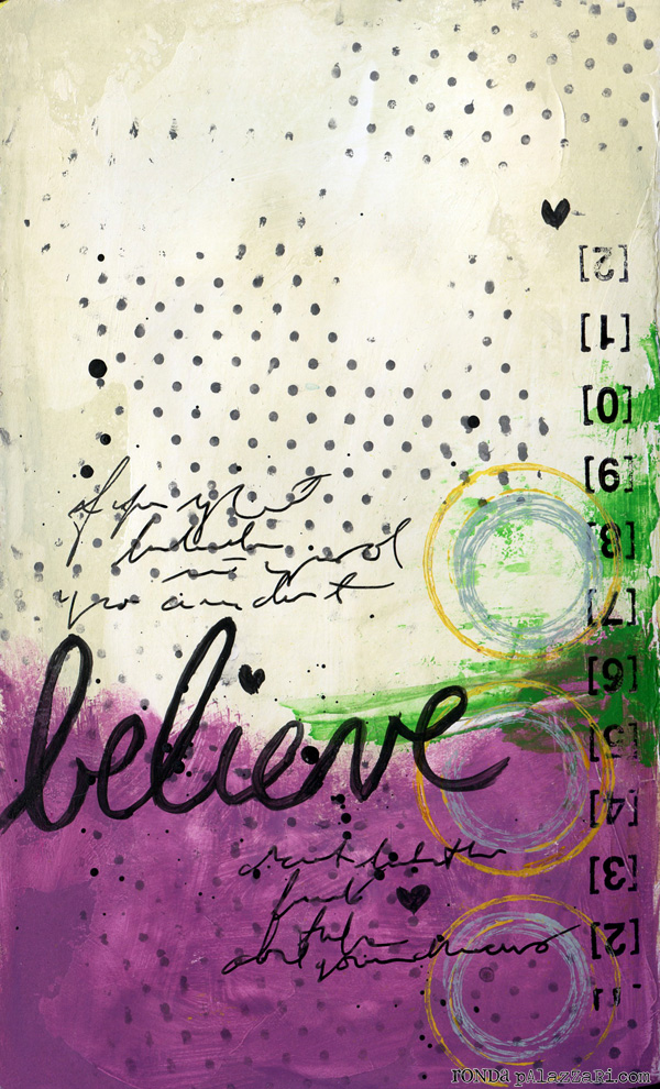 Ronda Palazzari believe art journal