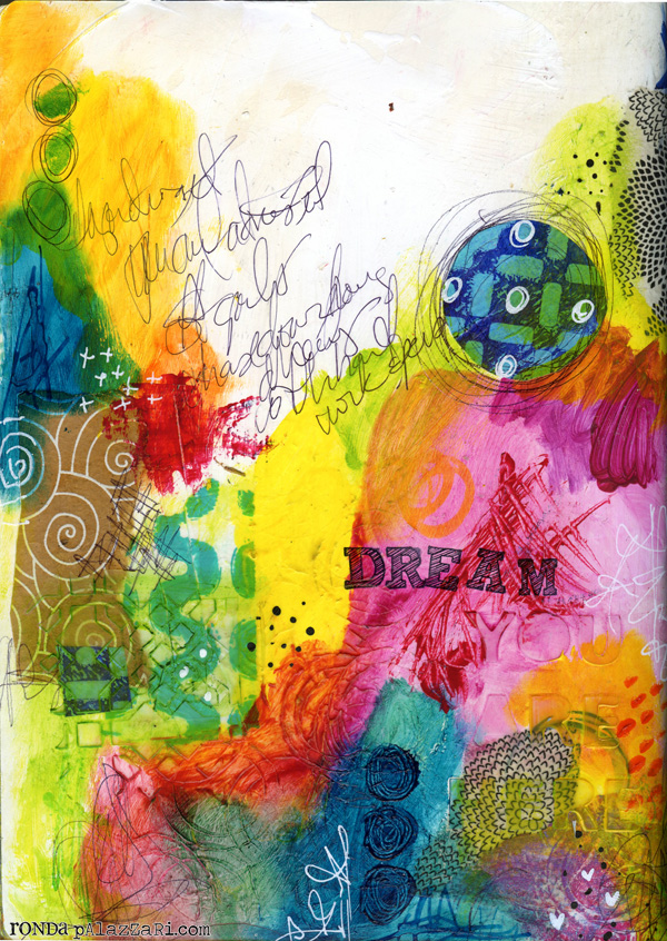 Ronda Palazzari Dream Art Journal Page