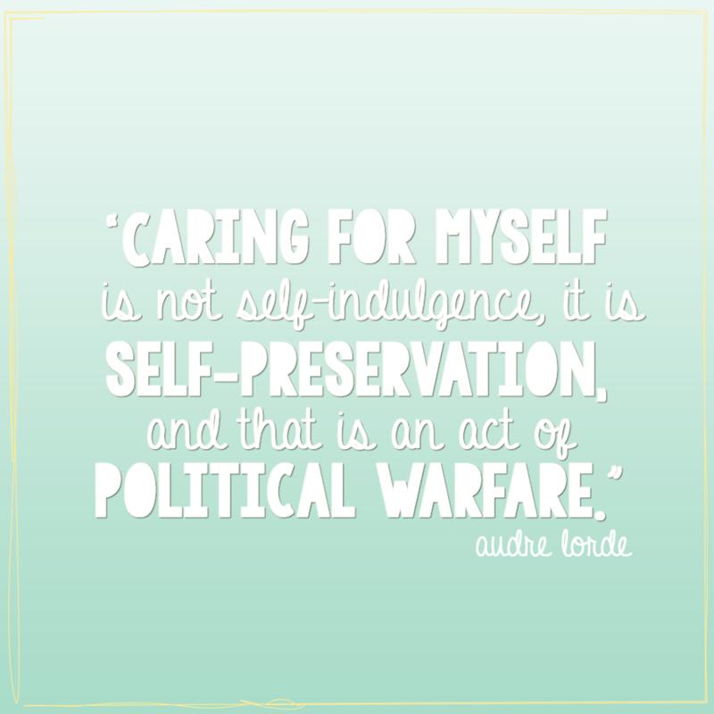 Ronda Palazzari Lorde Self Care Quote3